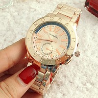 PANDORA Woman Men Popular Quartz Watch Business Watches Wrist Watch Couple Watch Rose Gold