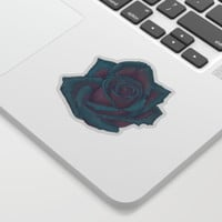Turquoise Rose Sticker by drawingsbylam