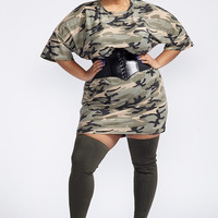 Plus Size At Attention Dress