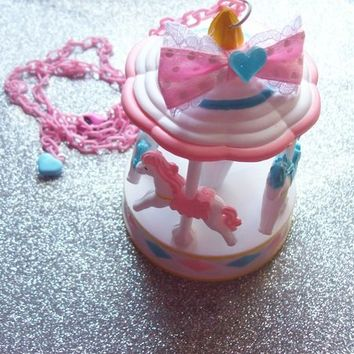Sweet Pastel Carousel Necklace from On Secret Wings
