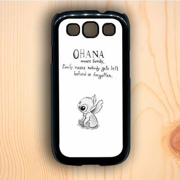 Dream colorful Vintage Lilo And Stitch Ohana Means Family Samsung Galaxy S3 Case