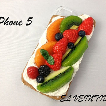 food iPhone 5 case, 3D iPhone 5 cover, kawaii  iPhone 5 case, fake food