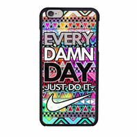 nike just do it every damn day aztec pattern case for iphone 6 6s