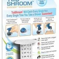 TubShroom™ (White) The Hair Catcher That Prevents Clogged Drains