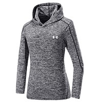 UNDER ARMOUR Women Men Lover Top Sweater Hoodie Grey