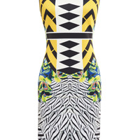Toucan Embellished Printed Neoprene Dress