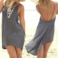 Loyally Elegant Short Asymmetrical Dress