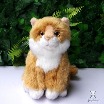 Gold Cat Stuffed Animal Plush Toy 6""