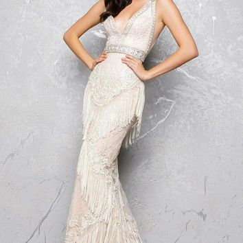 Mac Duggal - Sleeveless V-Neck Couture Gown 50404D