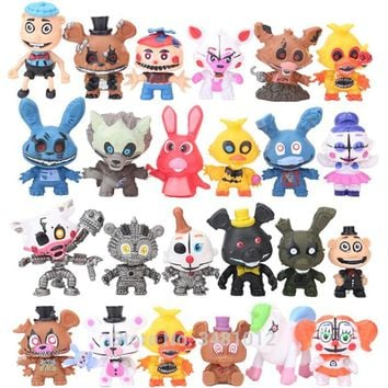 24pcs  At  Circus Baby PVC Action Figures  Ennard Freddy Bare Bonnie Foxy Chica Bear Figurines Kids Toys