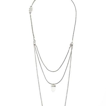 Lucky Brand Lucky Layers Necklace Womens - Silver (One Size)
