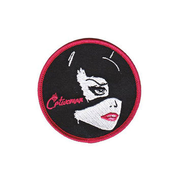 Catwoman Round Iron-On Patch