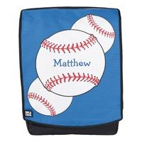 Red White Blue Baseball Sports Boldface Backpack