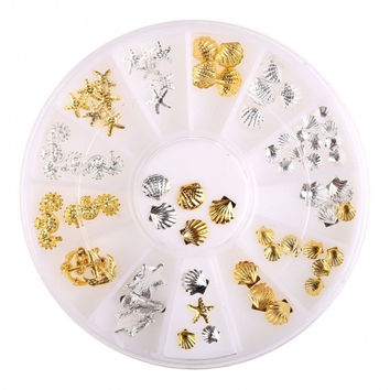 Pro Shinny 3D Alloy Nail Art Glitters Acrylic Tips Decoration Manicure Wheel DIY Decorations
