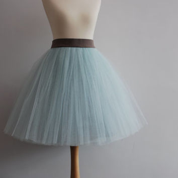 Cloud 9 - ladies tulle skirt / adult tutu skirt / mint tulle skirt / seafoam tutu / mint tutu