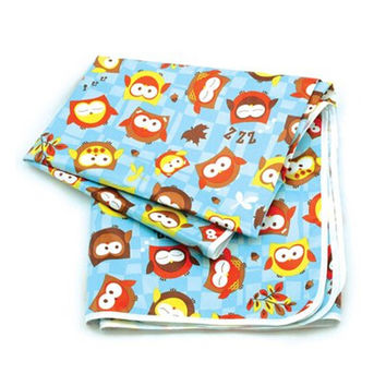 Baby Waterproof Playmats/Placemat Outdoor Activity Mat Night Owl-106*106*0.1Cm