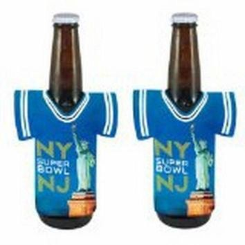 CREY2NO 2014 Super Bowl XLVIII 48 New York New Jersey NFL Football Bottle Jersey Holder Koozie