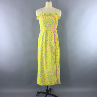 Vintage 1960s Lilly Pulitzer Dress / The Lilly Yellow Floral Print Max – ThisBlueBird - Modern Vintage
