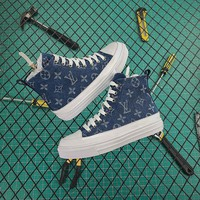 Louis Vuitton LV Overcloud High Sneaker Blue - Best Online Sale