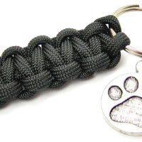 Paw Print Paracord 550 Military Spec Paracord Key Chain
