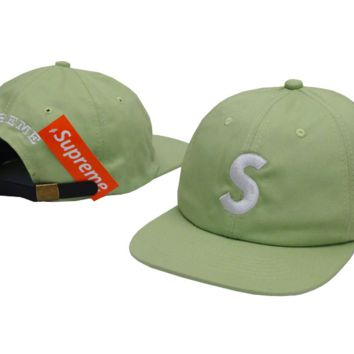 The New Supreme Embroidery Green Cotton Baseball Outdoor Sport Cap Hats