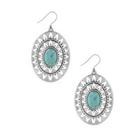 Lucky Brand Turquoise Oval Earrings
