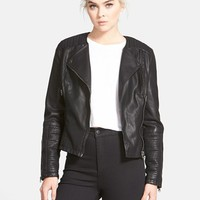 Women's Topshop Faux Leather Biker Jacket,