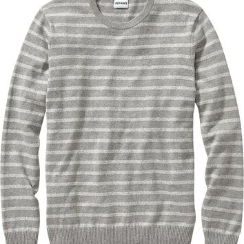 Old Navy Mens Marled Stripe Crew Neck Sweaters Size S - Heather light gray