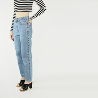 90s ck jeans light wash denim jeans high waisted mom jeans skinny calvin klein SMALL SM S