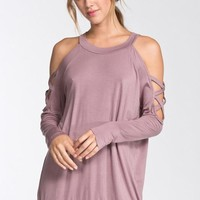 Cool and Collected Top - Mauve