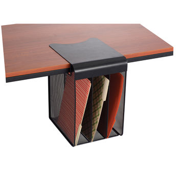 Onyx Mesh Solid Top Vertical Hanging Desk Storage   Overstock.com Shopping - The Best Deals on Desk Organizers