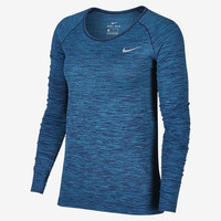 The Nike Dri-FIT Knit Women's Long Sleeve Running Top.