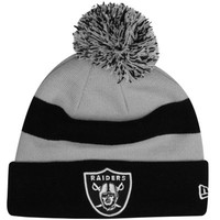 New Era Oakland Raiders 2013 On-Field Player Sideline Sport Knit Hat - Black/Silver