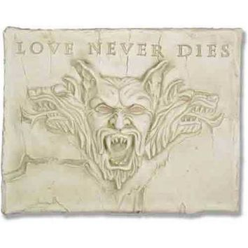 Love Never Dies Gargoyle Wall Plaque 19H - TF71460