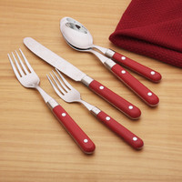 Ginkgo Le Prix 20-piece Red Flatware Set | Overstock.com Shopping - The Best Deals on Flatware Sets
