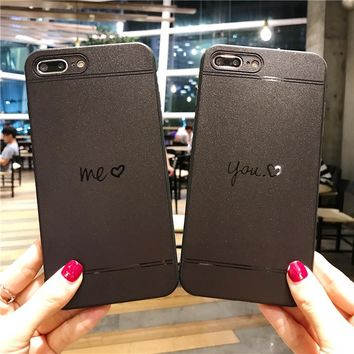Fashion love couple mobile phone case for iPhone X 7 7plus 8 8plus iPhone6 6s plus -171211