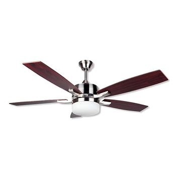 Ceiling Fan with Light Obergozo CP 79132 60W Silver Brown