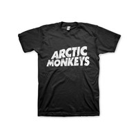 Arctic Monkeys Shirt Band Logo Men Woman, Color Black and White