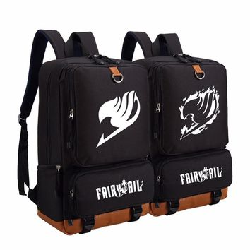 Anime Fairy Tail backpack fashion casual backpack teenagers Men women's Student School Bags travel Shoulder Bag Laptop Bags