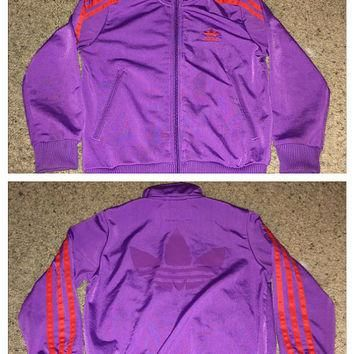 Sale!! Vintage ADIDAS Originals casual purple Track Jacket
