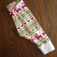 Fair Isle Legging in Red and Green - Christmas Legging