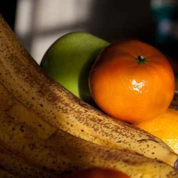 Fruit Photography - Dark Moody Still Life Print - Kitchen Wall Art