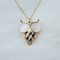 Owl pendant necklace,Owl pendant, Gold plated necklace,Long necklace,Unique necklace,Fashion necklace,Modern necklace