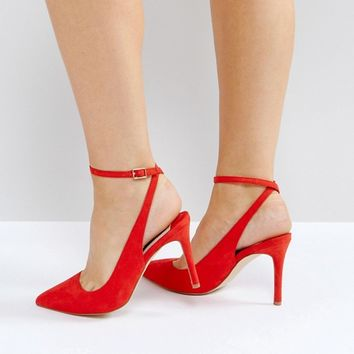 Faith Wide Fit Canyon Red Heeled Shoes at asos.com