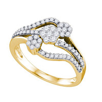 Diamond Ladies Fashion Ring in 10k Gold 0.5 ctw