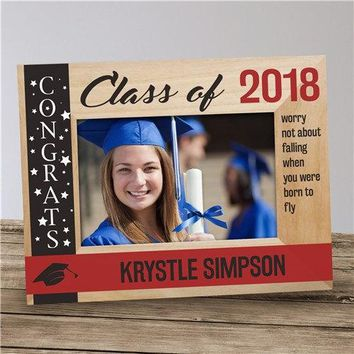 Free Engraving Personalized Custom Graduation Glass Frame Class of 2018