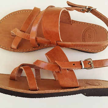 5903180646ec Ancient Greek Sandals In Natural Leather Color - Women Leather Sandals