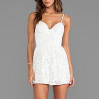 Zimmermann Sundance Textured Playsuit in White