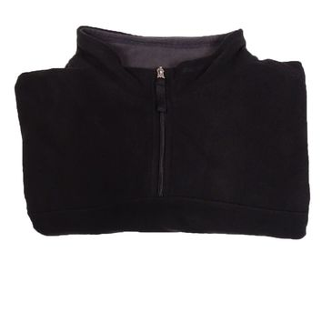 Club Room Men's Mock Quarter-Zip Sweater (Deep Black, 3XB)