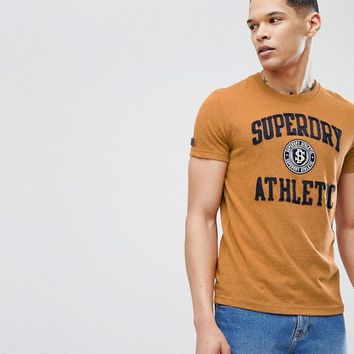 Superdry Large Athletic Logo T-Shirt In Yellow at asos.com